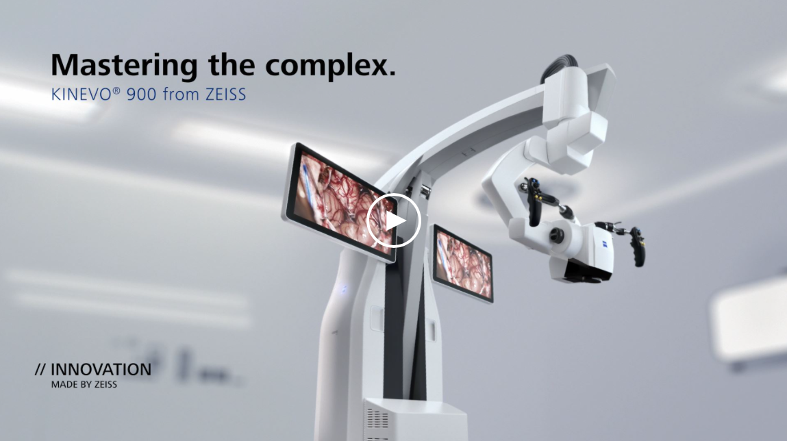 Loaded with over 100 innovations, the all-newRobotic Visualization System™– KINEVO®900 from ZEISS is designed to deliver more functionalities than any surgical microscope today. It combinesoptical and digital visualization modalities, offersQEVO – the unique Micro-Inspection Tooland will impress you with itsSurgeon-Controlled Robotics.        All to enable you to gain greater certainty in a virtually disruption-free workflow. Discover it now!
