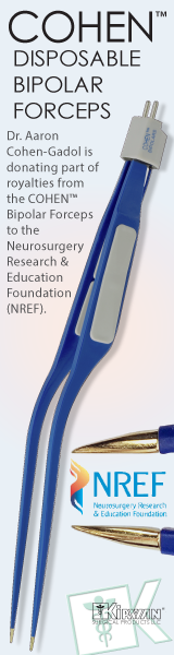 COHEN™ Bipolar Forceps: Dr. Aaron Cohen-Gadol is donating part of the royalties from the COHEN™ Bipolar Forceps to the Neurosurgery Research & Education Foundation (NREF).