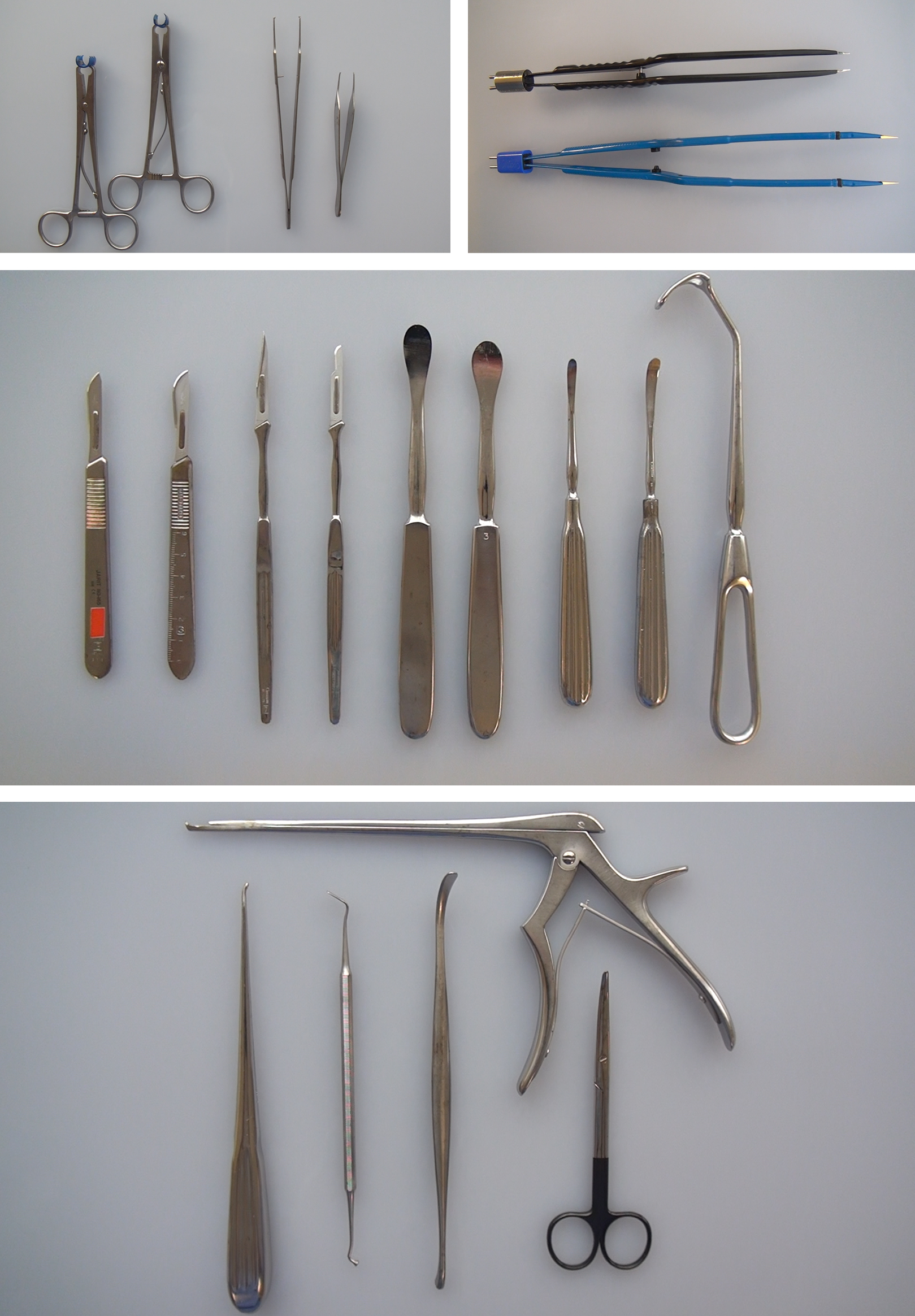 Figure 4: Basic instruments of my choice for a standard craniotomy.