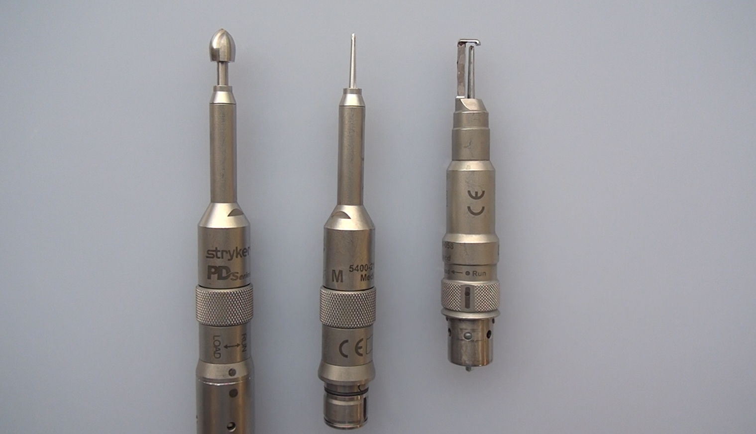 Figure 6: Burr holes are commonly made with a perforator clutch drill bit. These drill bits have an automatic stop mechanism when the inner table is penetrated and are typically 14 mm in diameter.  I prefer making burr holes with an acorn-shaped bit because the burr hole size can be controlled more effectively. The automatic stop mechanism of the perforator is not always sensitive or reliable enough to stop on time; this is especially problematic during placement of burr holes over the venous sinuses. For this reason, I routinely use an acorn bit.